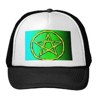 Wiccan Star Green Trucker Hat