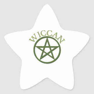 Wiccan Star Sticker