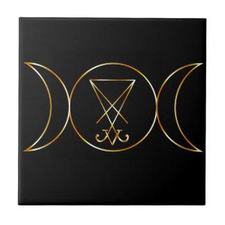 Wiccan symbol, Triple Goddess Ceramic Tile