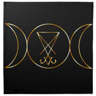 Wiccan symbol, Triple Goddess Cloth Napkin