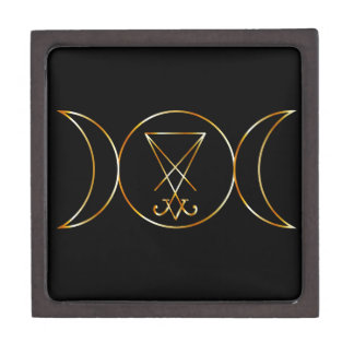 Wiccan symbol, Triple Goddess Jewelry Box