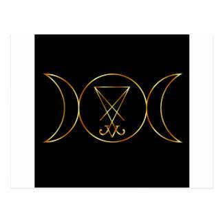 Wiccan symbol, Triple Goddess Postcard