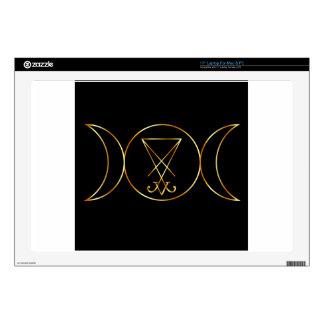 "Wiccan symbol, Triple Goddess Skin For 17"" Laptop"