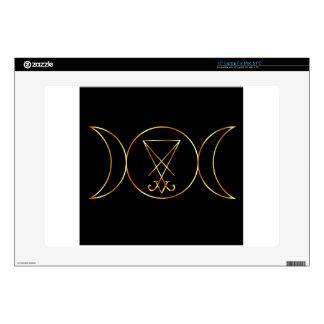 Wiccan symbol, Triple Goddess Skins For Laptops