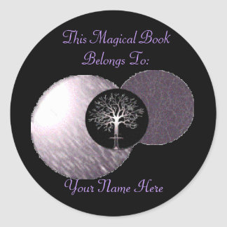 Wiccan Tree - Triple Moon Book Plate