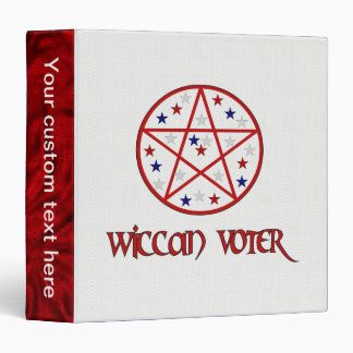 WICCAN VOTER 3 RING BINDER