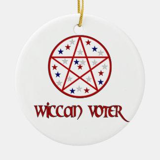 WICCAN VOTER CERAMIC ORNAMENT