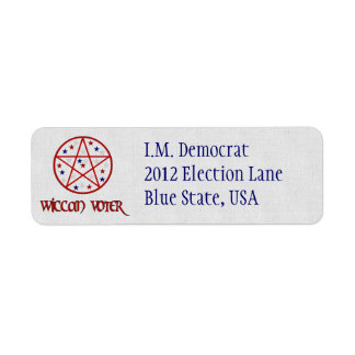 WICCAN VOTER LABEL