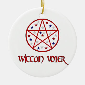 WICCAN VOTER CHRISTMAS TREE ORNAMENT