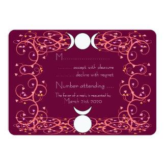 Wiccan Wedding RSVP - Horned God & Triple Goddess 5x7 Paper Invitation Card