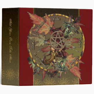 "Wiccan Wheel of the Year 2"" Avery Binder"
