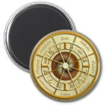 Wiccan Wheel of the Year 2 Inch Round Magnet