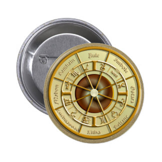 Wiccan Wheel of the Year Button