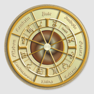 Wiccan Wheel of the Year Classic Round Sticker