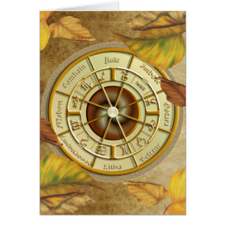 Wiccan Wheel of the Year Greetings Card