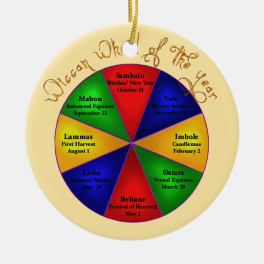 Wiccan Wheel of The Year Ornament