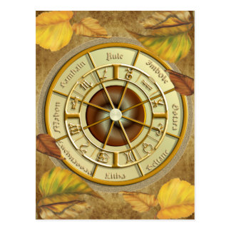 Wiccan Wheel of the Year Postcard
