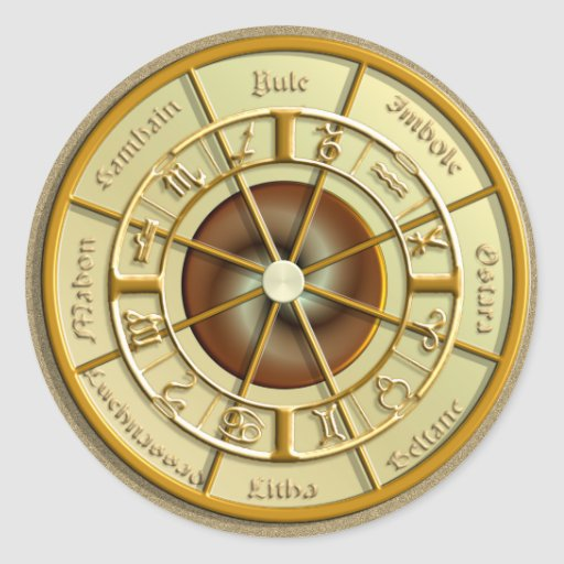 Wiccan Wheel of the Year Stickers