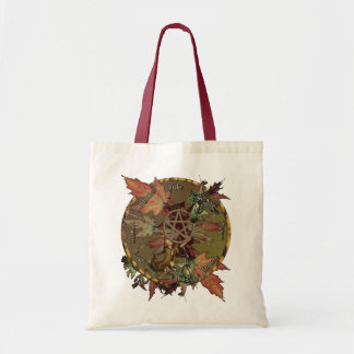 Wiccan Wheel With Pentacle Canvas Tote Bag