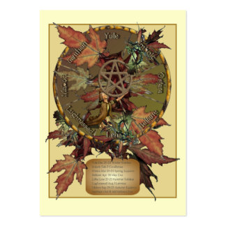 Wiccan Wheel With Pentacle Profile Card Business Cards