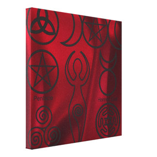 Wiccan,wicca,pagan,triquetra,pentacle,triple Stretched Canvas Print