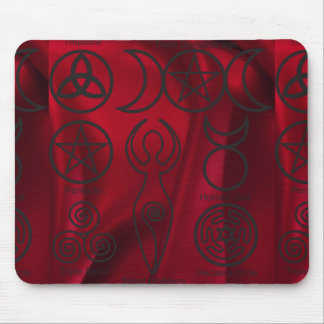 Wiccan,wicca,pagan,triquetra,pentacle,triple Mouse Pad