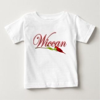 Wiccan with red rose baby T-Shirt