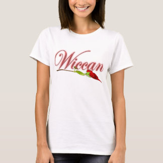 Wiccan with red rose T-Shirt