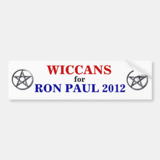 WICCANS for PAUL 2012 sticker