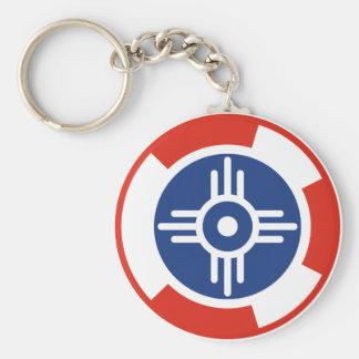 Wichita Air Squadron Roundel Basic Round Button Keychain
