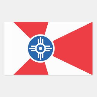 Wichita city flag rectangular sticker