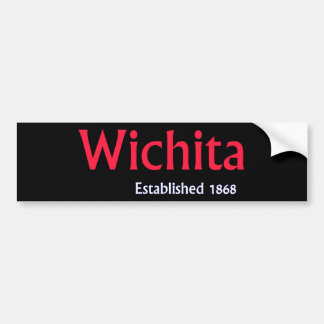 Wichita Established Custom Vehicle Bumper Sticker