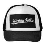 Wichita Falls script logo in white distressed Mesh Hats