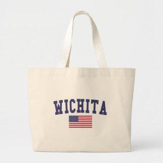 Wichita Falls US Flag Large Tote Bag