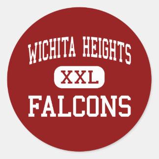 Wichita Heights - Falcons - High - Wichita Kansas Round Sticker