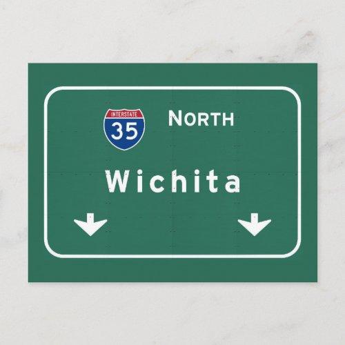 Wichita Kansas ks Interstate Highway Freeway  Postcard
