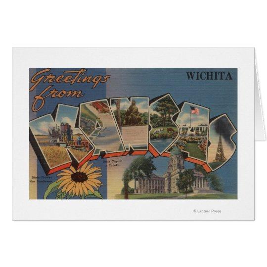 Wichita, Kansas - Large Letter Scenes Card
