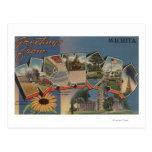 Wichita, Kansas - Large Letter Scenes Postcard