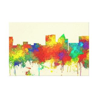 Wichita Kansas  Skyline-SG Canvas Print