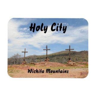 Wichita Mountains Holy City Rectangular Magnets
