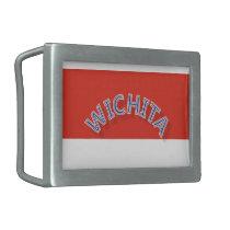 Wichita Red and White Belt Buckle