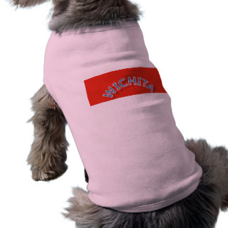 Wichita Red and White Doggie Ribbed Tank Top