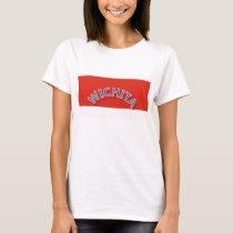 Wichita Red and White Ladies Basic T-Shirt