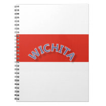 Wichita Red and White Notebook