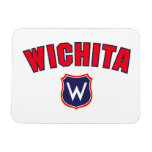 Wichita Throwback Rectangle Magnets