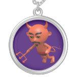 Wicked 3d Devil Flying (editable) Custom Necklace