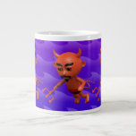 Wicked 3d Devil Flying (editable) 20 Oz Large Ceramic Coffee Mug