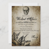 Wicked Affair Halloween Party Invitation