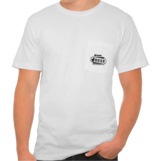 Wicked Beaver Brewing Co Mmmm Beer pocket T T-shirts
