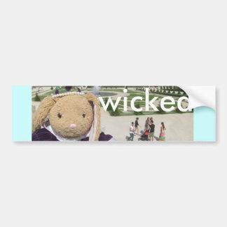 Wicked Bumper Sticker Car Bumper Sticker